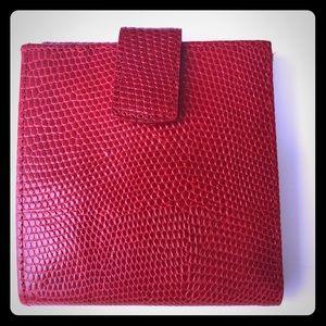 Genuine RED Lizard Bi-fold ID Wallet